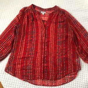 Old Navy Size XL Multi Color Blouse